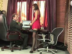 mature secretary suck