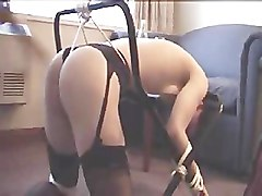 young girl tied her legs and spermed puss