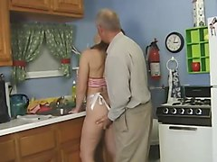 beautiful lady fucked by dirty old man