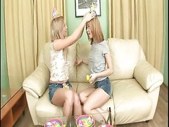 female twins get kinky with lucky guy