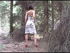 white mature cougar mom is a nudist dances naked