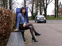 crossdresser in high heels