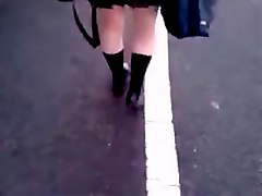 jerking and cumming on girl in public