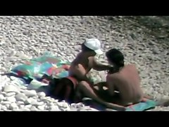 hidden vid of hot french couple on the beach