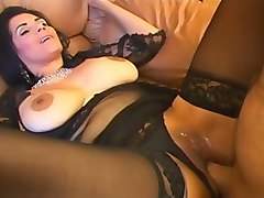 big tits riding creampie