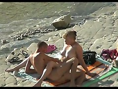 threesome on the beach
