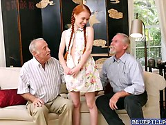 old men gangbang teen