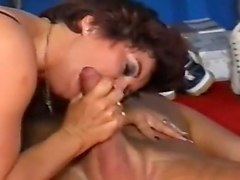 busty german mature anal fucked in the woods