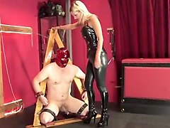 slave hubby fucked and tortured by bbw femdom