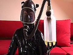 milking latex domina handjob