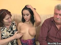 mature woman seduces man