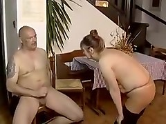 white mature mom gets in the sauna with young