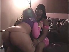 female given lap dance another female