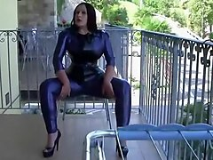 latex gloves handjob interracial