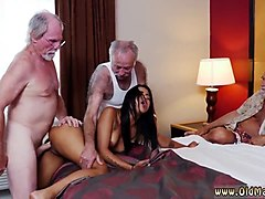 old men young girl staycation with a latin hottie