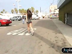 women doing crazy things on the street for some money