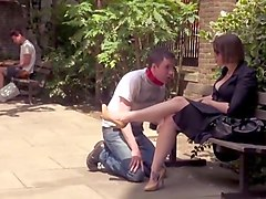 couple using male slave