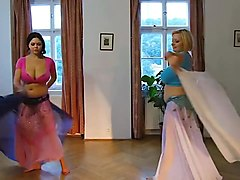 nude belly dance on stage with snake
