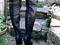 gay leather boots