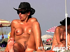 a day on the beach with 2 euro blondes