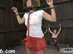 bdsm painful punished ganged pussy torture