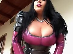 latex coat handjob
