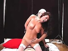 while riding the sybian