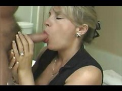 blonde and brunette give blowjob